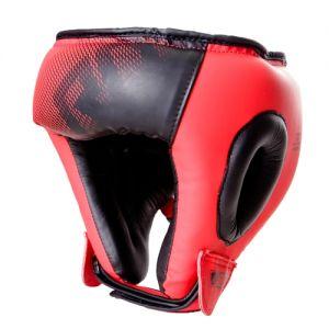 Casque boxe adulte V5 FADE Rouge à lacet RD boxing