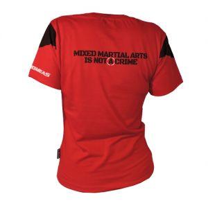 EVENT WEAR : T-shirt coton lifestyle Féminin Rouge OCTOGONE II  Ltd