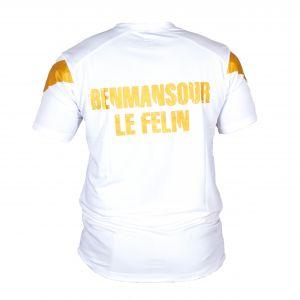 FIGHTER WEAR : T-shirt respirant Blanc/Gold Pro Model Ltd