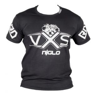 FIGHTER WEAR : T-shirt respirant Noir/Silver Pro Model Ltd