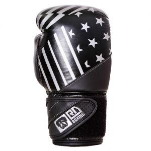 Gants de boxe Rumble V5 CUIR Ltd PMG noir/silver RD boxing