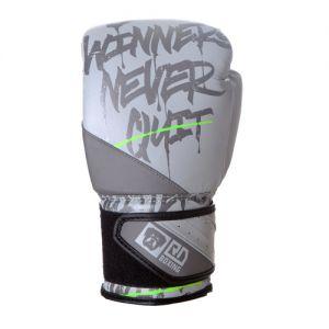 Gants de boxe Rumble V5 CUIR Ltd STATEMENT gris/vert fluo RD boxing