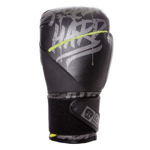 Gants de boxe Rumble V5 CUIR Ltd STATEMENT noir/gris RD boxing