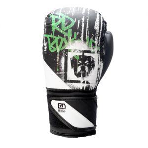 Gants de boxe Rumble V5 DOG WALL noir/blanc RD boxing