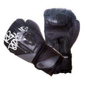 Gants de boxe Rumble V5 DOG WALL noir/gris RD boxing