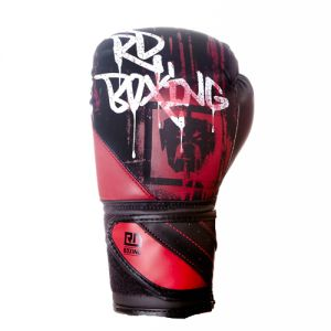 Gants de boxe Rumble V5 DOG WALL noir/rouge RD boxing