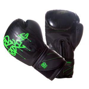 Gants de boxe Rumble V5 DOG WALL noir/vert fluo RD boxing