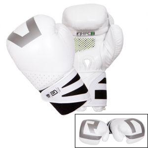 gants de boxe ultimate V5 CUIR Ltd blanc RD boxing