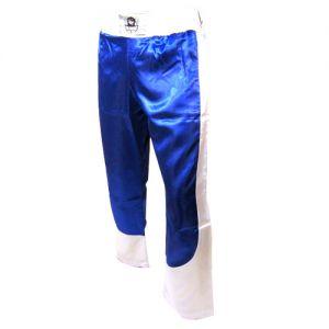pantalon full contact a bandes stretch bleu blanc