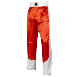 pantalon full contact a bandes stretch rouge blanc