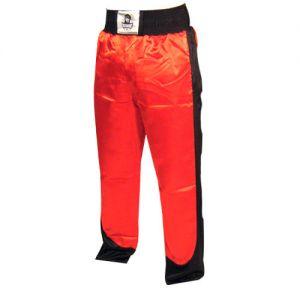 pantalon full contact a bandes stretch rouge noir