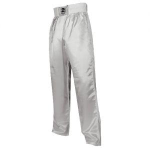 pantalon full contact uni a bandes stretch blanc