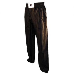 pantalon full contact uni a bandes stretch noir