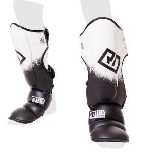 Protege Tibia/pieds K1 / Muay Thaï HD V5 NOIR/BLANC