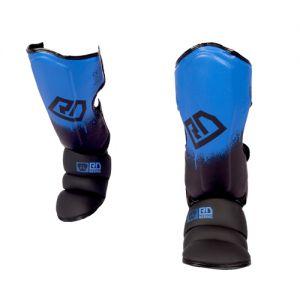 Protege Tibia/pieds K1 / Muay Thaï HD V5 NOIR/BLEU