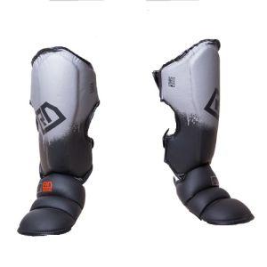 Protege Tibia/pieds K1 / Muay Thaï HD V5 NOIR/GRIS