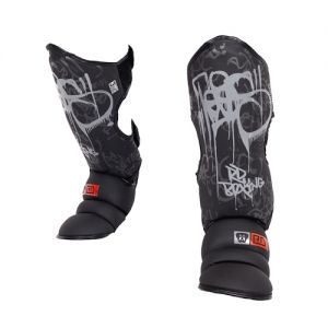 Protege Tibia/pieds K1 / Muay Thaï HD V5 TAG NOIR/GRIS