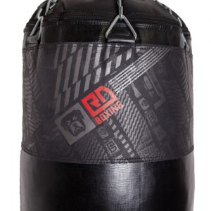 sac de frappe cuir lourd noir v5 rd boxing