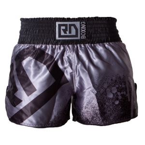 Short thai noir/gris stencil V5 RD Boxing