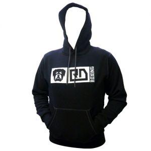 sweatshirt capuche molleton homme noir